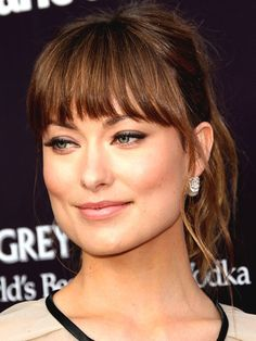 squares, squar face, face shapes, beauti, ponytail hairstyles, bangs square face, fring, bangs for square face, olivia wilde