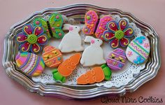 Posh Easter Bunnies cookies: Easter Collection