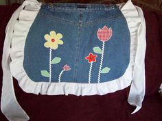 Appliqued denim apron by ASewSewShop on Etsy, $19.99