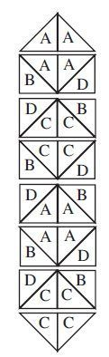Diamonds and Chevrons Table Runner Pattern/Design