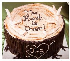 Groom's cake idea ... the hunt is over with arrow heart.