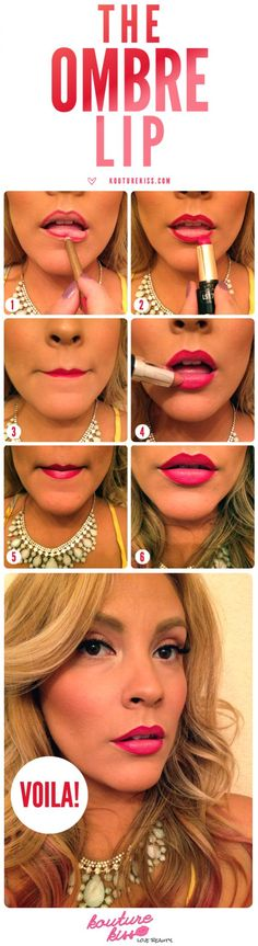 lipsticks, ombre, makeup tutorials, ombr lip, makeup tips