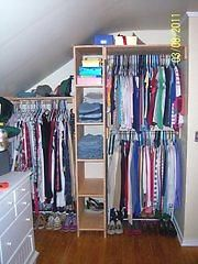 closet organization (http://ana-white.com)  Great use of space!