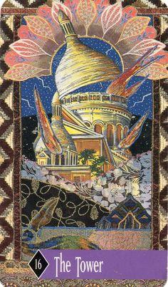 The Tower - XVI - Enchanted Tarot