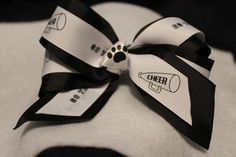 Cheer Team Football Sport Bows by LaLasCastle on Etsy, $7.00
