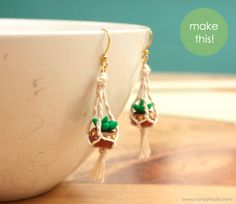 Tutorial: Hanging Planter Earrings |