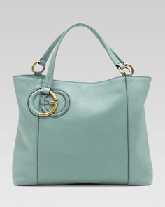 She is soooo pretty to me!  Twill Leather Tote, Splash by Gucci at Neiman Marcus.