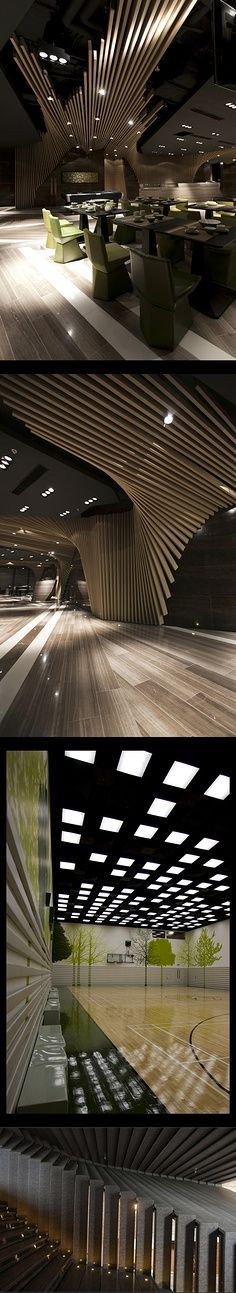 Restaurant design.. use of space and dimension.