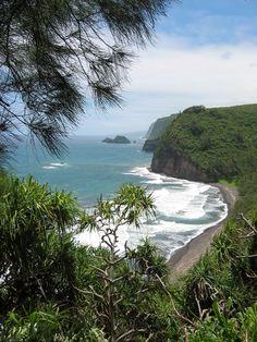 Big Island of Hawaii, somewhere around the island between Kailua-Kona and Hilo