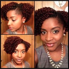 Twist out with side cornrows