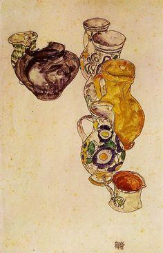 Peasants Jug, 1918 Egon Schiele