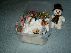 Snowman sensory tub