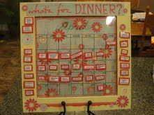 Cute magnetic menu board