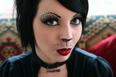 kitty cats, face paintings, halloween costumes, costume ideas, halloween makeup, cat costumes, makeup ideas, cat makeup, costume makeup