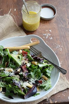 Classic Caesar Salad Dressing {And a New Spin on Caesar Salad} #recipe