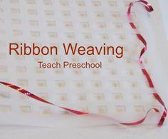Ribbon Weaving for Preschoolers by Teach Preschool