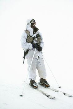 IDF Alpine Unit soldier training at Mt. Hermon, Israel www.facetozion.com