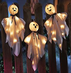 Halloween Lighted Hanging Haunted Ghosts Decoration $14.99