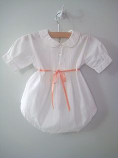 1940's Handmade White Embroidered Romper by BabyTweeds on Etsy