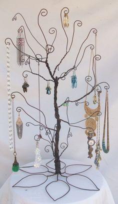 Wire Jewelry Tree Stand