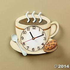 Coffee Cup Clock $9.98 Oriental Trading Co