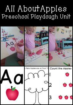 All About Apples: Preschool Playdough Unit {FREE printables}