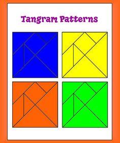 FREE Tangram Polygon Explorations - printable tangram patterns and activity directions #printable #tangram