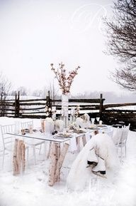 #winter #wedding #tablescape
