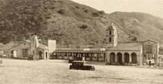 """On December 12, 1925, the """"Motel Inn,"""" the first motel in the world, opens in San Luis Obispo, CA. It stood at a mid-point location between Los Angeles and San Francisco, which took two days of driving on the roads at the time."""