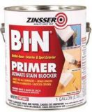 Zinsser B-I-N® Shellac Base Primer & Sealer Stain Killer. Absolutely the best interior wood sealer. Seals water, smoke, graffiti, and grease stains. Sticks to all surfaces without sanding. Lightening fast dry, re-coat in 45 minutes. Order right here for $25.99/qt.