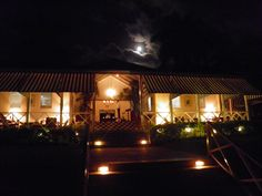 The lobby at Round Hill Hotel & Villas simply glows in the evening. #Jamaica #MontegoBay #luxury