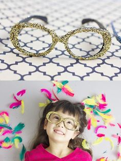 Need a little sparkle for your New Years Eve in a craft for your little ones and yourself? Check out these fun embellished glasses (via Ruffles And Stuff)
