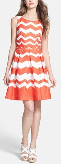 Pretty chevron fit  flare dress - 40% off! http://rstyle.me/n/jnquvnyg6