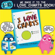The Googly Gooeys Made it to the I LOVE CHARTS Book!