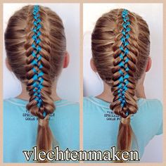 Gymnastics Hairstyles on Pinterest Braided Buns, French Braids and ...
