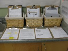 Educator Space: The educators' space has many clipboards, which include (but are not limited to) our long-range plans, day plans, schedule, week-at-a-glance instruction and learning areas, documentation templates, mini lesson planning sheets, and inquiry planning templates.