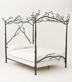 Bring outside into inside with this #Tree Canopy #Bed. #kuldesign #fundesign #uniquebed #treebed #bedroom #bedroomfurniture #furniture #uniquefurniture