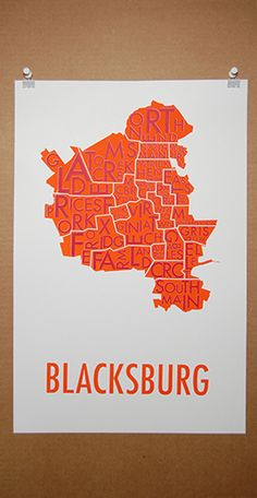 Map of Blacksburg!