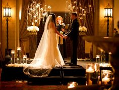 idea, floating candles, tree, roosevelt hotel, weddings, column, heaven bloom, hollywood roosevelt, hotels