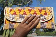 Ankara Clutch w/Chain on Etsy, $35.00