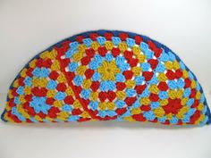 Signed With an Owl: Granny Triangle Half Circle Pillow ~  Tutorial