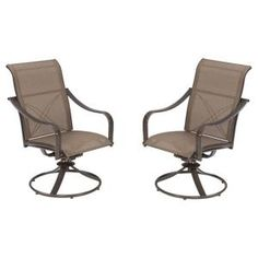 Martha Stewart Living Grand Bank Swivel Patio Dining Chair (2-Pack)-W4067-CHRS-2 at The Home Depot $230