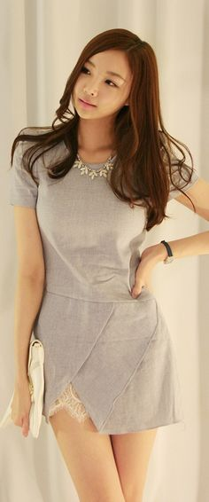 Luxe Asian Women Design Korean Model Fashion Style Aza Bell Sky blue Dress