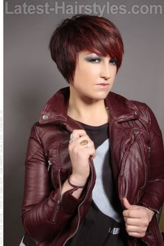 Short Hairstyle with Highlights and Fringe