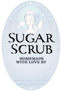 Free downloadable sugar scrub labels that can be customized for your sugar scrub jars.