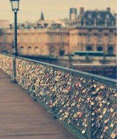 Love bridge, Paris, France