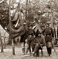 Petersburg, Virginia. General Orlando B. Willcox and staff, 3d Division, 9th Corps.
