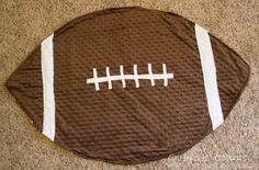 Football Blanket & Burp Cloths