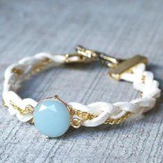 diy jewelry, diy bracelet, white gold, leather bracelets
