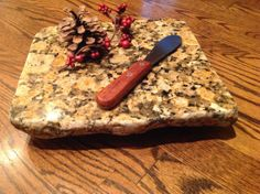 Rustic Chic Upcycled granite Cheese Board by CountertopCouture, $35.00